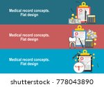 medical diagnosis flat... | Shutterstock .eps vector #778043890