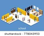 isometric 3d vector... | Shutterstock .eps vector #778043953