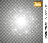 set of golden glowing lights...   Shutterstock .eps vector #778044049
