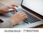 business woman working on laptop   Shutterstock . vector #778047040