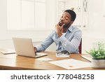 black businessman working on... | Shutterstock . vector #778048258
