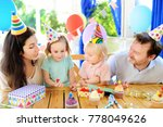 cute little children twins and... | Shutterstock . vector #778049626