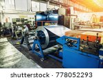 worksop with machinery tools... | Shutterstock . vector #778052293