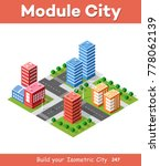 colorful 3d isometric city of... | Shutterstock .eps vector #778062139