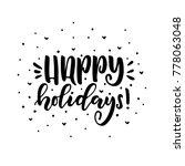merry christmas calligraphy...   Shutterstock .eps vector #778063048