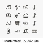 sound icon line set with loud ... | Shutterstock .eps vector #778064638