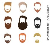 fashionable men's hairstyle ... | Shutterstock . vector #778068694