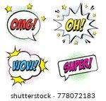 retro comic speech bubbles set... | Shutterstock .eps vector #778072183