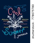 jamaica cool summer t shirt... | Shutterstock .eps vector #778075780