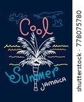 jamaica cool summer t shirt...   Shutterstock .eps vector #778075780