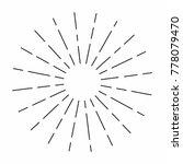 vintage sunburst in lines shape ... | Shutterstock .eps vector #778079470