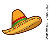 mexican hat isolated icon | Shutterstock .eps vector #778082260