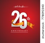 26th anniversary logotype with... | Shutterstock .eps vector #778092340