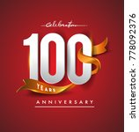100th anniversary logotype with ... | Shutterstock .eps vector #778092376