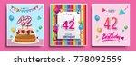 vector sets of 42 years...   Shutterstock .eps vector #778092559