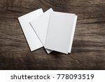 blank portrait mock up paper.... | Shutterstock . vector #778093519