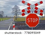 Railway Level Crossing With A...