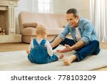 come here. cute positive... | Shutterstock . vector #778103209