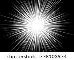 abstract radial zoom line speed ...   Shutterstock .eps vector #778103974