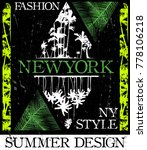 new york fashion style tee art | Shutterstock .eps vector #778106218