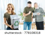 lets recycle. pleasant cute...   Shutterstock . vector #778108318