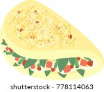 simple omelette vector with ham ... | Shutterstock .eps vector #778114063
