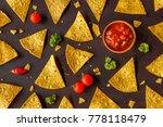 corn tortilla chips nachos and... | Shutterstock . vector #778118479
