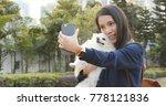woman taking selfie with her... | Shutterstock . vector #778121836