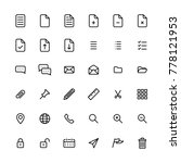 line art icon set vector... | Shutterstock .eps vector #778121953