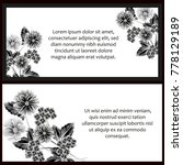 invitation with floral...   Shutterstock .eps vector #778129189