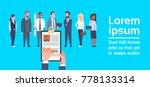 hr hand hold cv resume of... | Shutterstock .eps vector #778133314