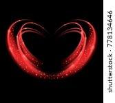 red shiny heart. light effect.... | Shutterstock .eps vector #778134646