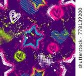 abstract seamless grunge... | Shutterstock .eps vector #778139200