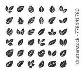 leaves icon vector set   Shutterstock .eps vector #778141780