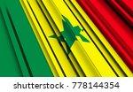 fragment flag of senegal. 3d... | Shutterstock . vector #778144354