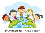 happy kid cartoon standing... | Shutterstock .eps vector #778144594