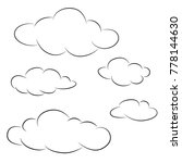 clouds icon collection | Shutterstock .eps vector #778144630