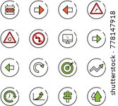 line vector icon set   sign... | Shutterstock .eps vector #778147918