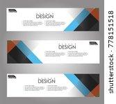 vector design banner background. | Shutterstock .eps vector #778151518