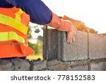masonry construction worker in... | Shutterstock . vector #778152583