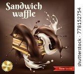 vector realistic sweet crispy... | Shutterstock .eps vector #778152754