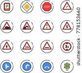 line vector icon set   parking... | Shutterstock .eps vector #778153660