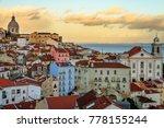 alfama  lisbon  portugal. | Shutterstock . vector #778155244