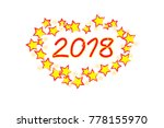 vector   icon happy new year... | Shutterstock .eps vector #778155970