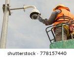 a male technician doing... | Shutterstock . vector #778157440