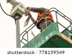 a male technician doing... | Shutterstock . vector #778159549