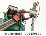 a male technician doing... | Shutterstock . vector #778159570