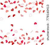 heart confetti beautifully... | Shutterstock .eps vector #778160413