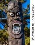 closeup of carved face of... | Shutterstock . vector #778162480