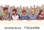 illustration of young crowd... | Shutterstock .eps vector #778164088